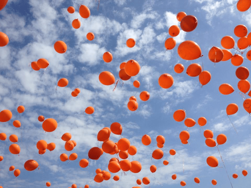 Family Friends Fly Orange Balloons In Honor Of Deceased 8