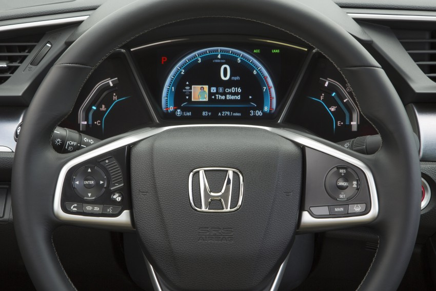 2016 Honda Civic – full technical details on the 10th gen sedan, which benchmarks the 3 Series, C-Class Image #394105