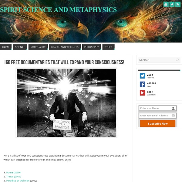 166 Free Documentaries That Will Expand Your Consciousness