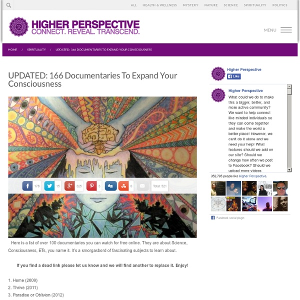 119 Documentaries To Expand Your Consciousness Pearltrees