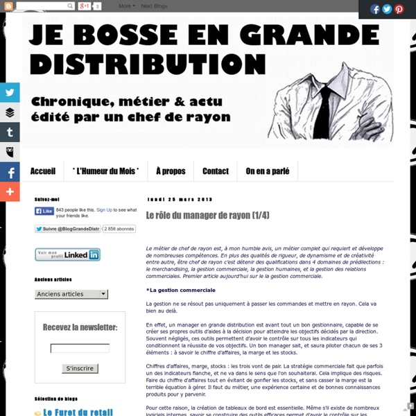 cv manager grande distribution