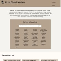 Living Wage Calculator - Introduction to the Living Wage ...