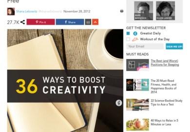 36 Ways To Boost Creativity