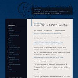 LA SYNTHESE DES DOCUMENTS Pearltrees