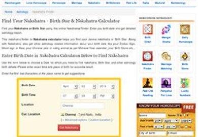 Nakshatra Calculator Printable Find Your Nakshatra Janma