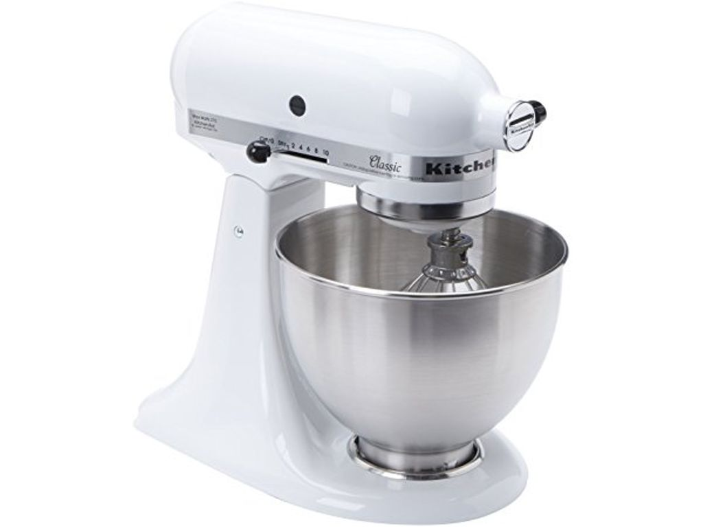 KitchenAid K45SS Classic Stand Mixer  White  KITCHENAID