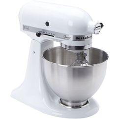 Kitchen Aid Stand Up Mixer Cedar Cabinets Kitchenaid K45ss Classic White