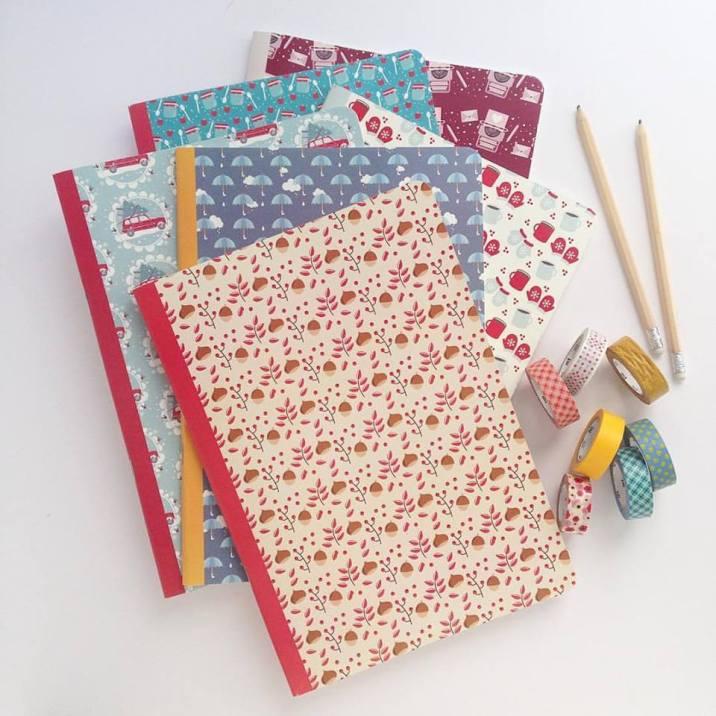 Doppio formato per i quaderni di Le Petit Rabbit: grande per la scuola, più piccolo per tutte le mamme stationery addicted.