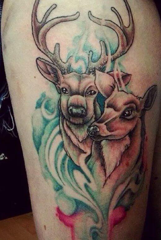 Doe And Buck Tattoos : tattoos, Cute,, Inspiring, Beautiful, Tattoo, Designs, PetPress