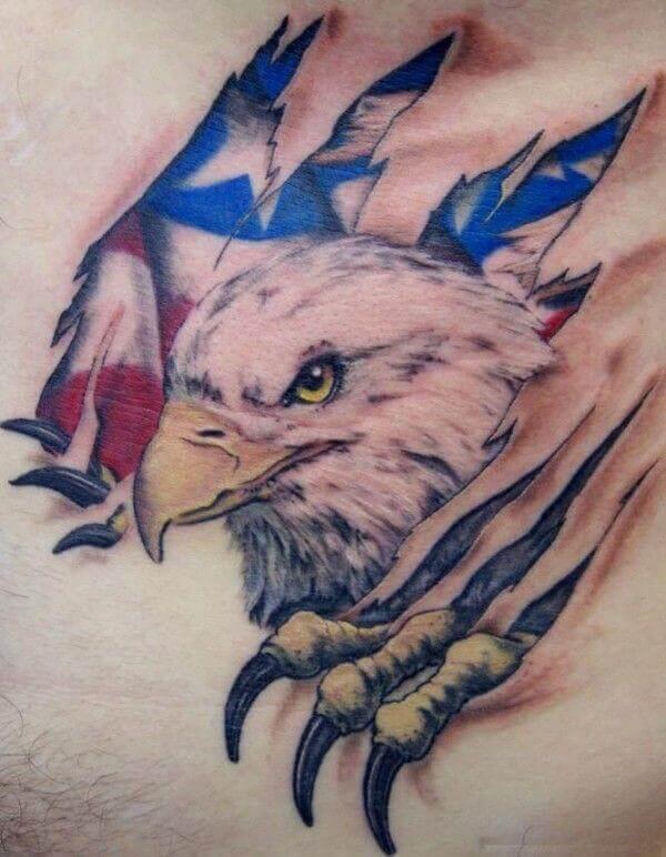 Eagle With American Flag Tattoo : eagle, american, tattoo, Eagle, American, Tattoo, Designs, PetPress