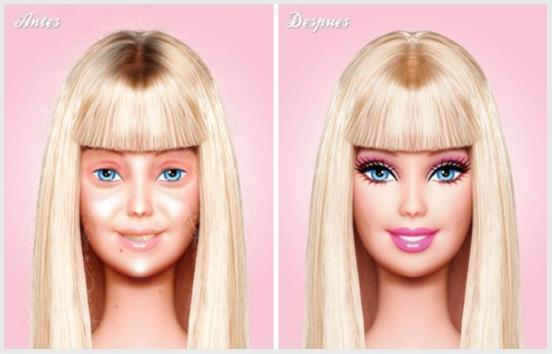 "Before and After, Mexican designer presents Barbie without makeup CREDIT: <a href=""http://www.behance.net/gallery/Barbie/2143713"" target=""_blank"">Behance</a>"