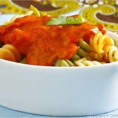 Kitchen Aid Pasta Attachment Recycling Bins Tri-color Fusilli With Mascarpone Tomato Sauce ...
