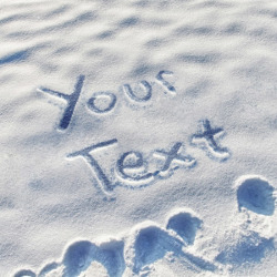 Snow Writing PhotoFunia Free Photo Effects And Online