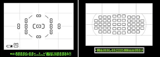 Nikon D5000 vs D300s AF Points