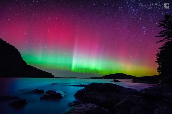 Northern Lights Aurora Borealis and Milky Way