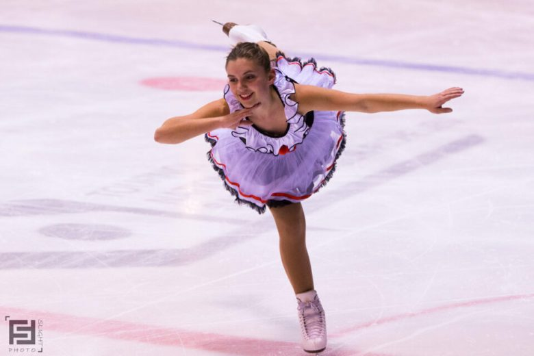 Graceful Figure Skater Arabesque