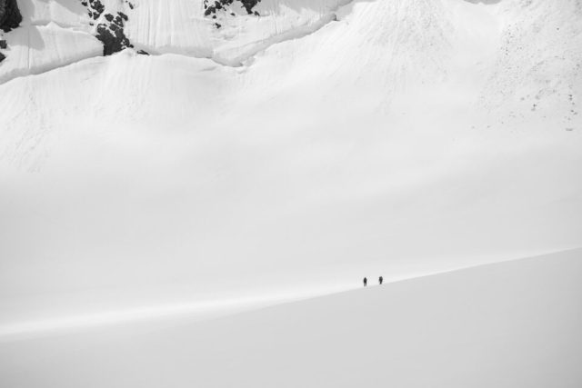 Two Hikers and Negative Space