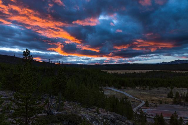 8. Sunset over Yellowstone, Yellowstone