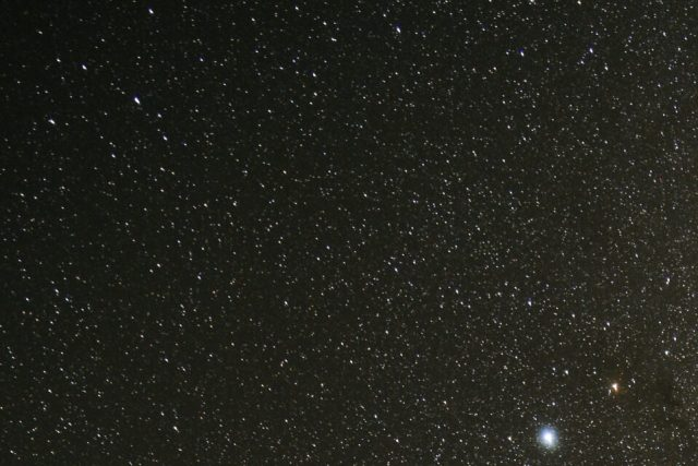 Corner Crop of Stars with Nikon Z 24-70mm f4 S Lens