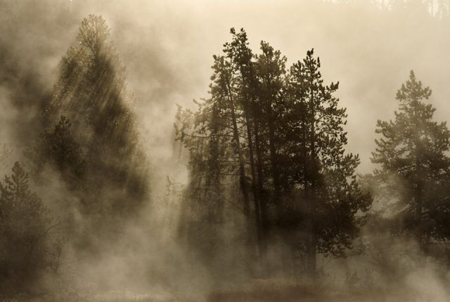 10. Steam Over Hot Spring, Yellowstone