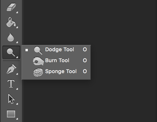 Photoshop Dodge and Burn Tools