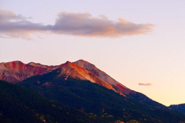Oversaturated sunset photo