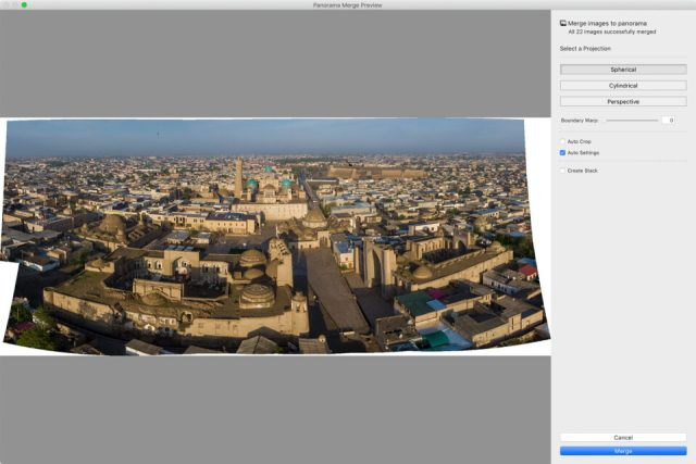 Simple Panorama Stitch in Lightroom