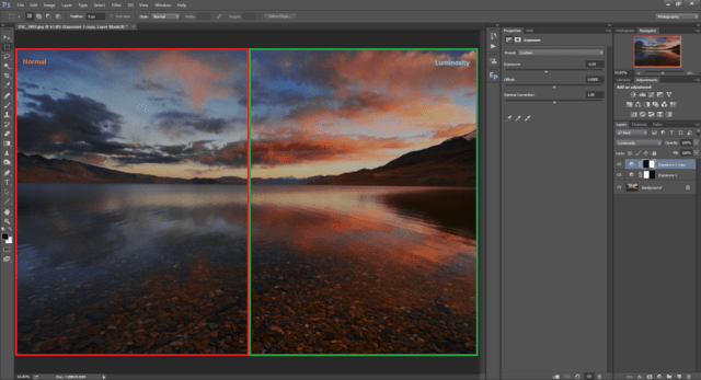 Blend Mode Applied to Image in Photoshop