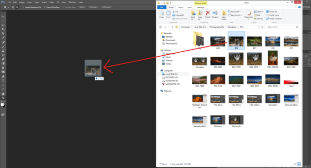 Open file in Photoshop