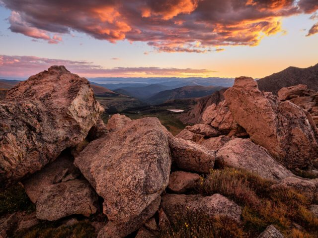 Sunset at Mt Evans, Captured with Fuji GFX 100