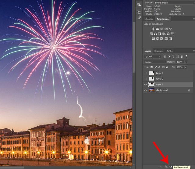 Add layer mask in Photoshop