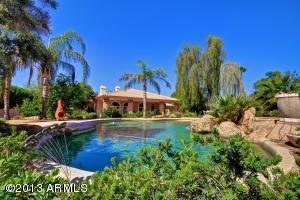 Very private and serene backyard pool views