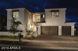 Montecito front elevation shown here with optional 3 car garage.