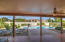 Expansive covered entertainers patio