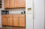 Great cabinet storage space in cabinets and the Corian countertops!