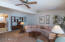 Enjoy the bonus space of an expanded living room off the kitchen with a view to the rear yard.