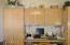 kitchen has office area