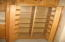 The Pantry opoens to offer you shelves on the doors as well as plenty of space for other food items.