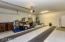 Oversized 2 car garage with access to the backyard
