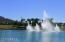 Eastrella fountains at lake