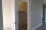 Spacious front storage/coat closet
