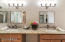 """OWNER'S SUITE BATH W/36"""" MAPLE CABINETS & UPDATED LIGHTING!"""