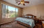 Master bedroom view has large picture window, and plenty of space for king or queen bed.