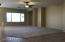 Great Room has surround sound speakers and ceiling fan