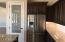 Glass front pantry door, and Stainless Steel French Door Refrigerator