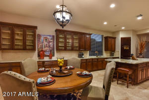 Renovated kitchen with beautiful cabinets and appointments. Casual dining areas