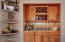Built in China Hutch or bar area