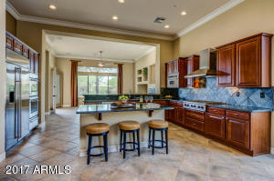Slab granite, chef quality stainless steel appliances, rich, wood cabinetry AMAZING!