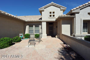 Beautiful Front Courtyard with golf course views.