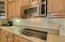 under cabinet lighting & nice upgraded cabinets w/hardware